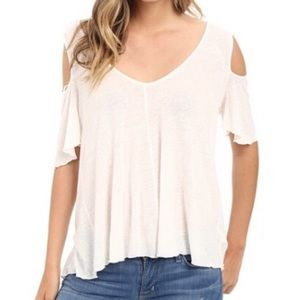 NEWw/tag Free People Bittersweet Cold Shoulder Top